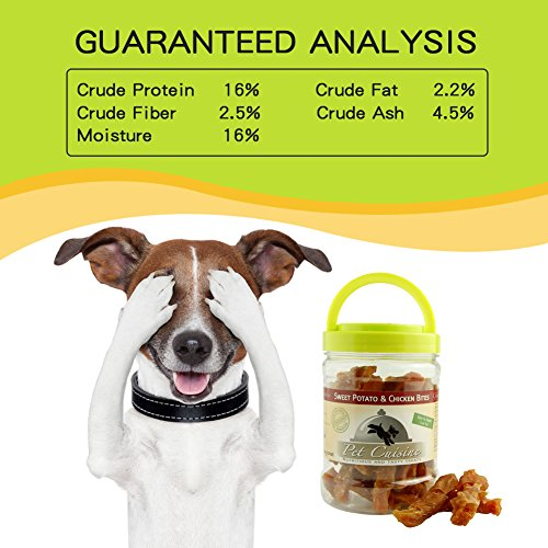 Pet Cuisine Premium Dog Treats Puppy Chews Snacks, Sweet Potato & Chicken Strips well-wreapped