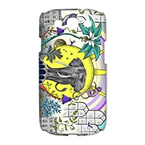 diy zhengDIY Case Cute Vintage Newspaper Elephant Aztec Floral Trunk Hard Plastic iPhone 6 Plus Case 5.5 Inch Case Back Protecter Cover Case Perfect as Christmas gift(2)