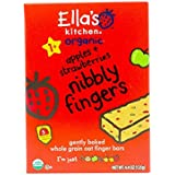 Ella's Kitchen Organic Nibbly Fingers, Apples + Strawberries, 5 Count (Pack of 8)