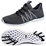 SUOKENI Men's Quick Drying Slip On Water Shoes for Beach or Water Sports Darkgrey