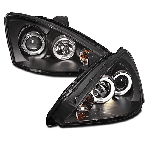 ZMAUTOPARTS Ford Focus Dual Halo Projector Headlight BlackLX SE Zx3 Zx5 Pair - Focus Dual Halo Projector Headlights