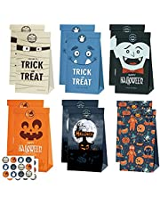 Halloween tas 10 Pcs geschenkzakjes Met stickers Tassen Halloween Cadeautassen voor kinderen Halloween Verjaardagsfeestje Benodigdheden 5 modellen(19.8 * 11.9 * 7.8CM)