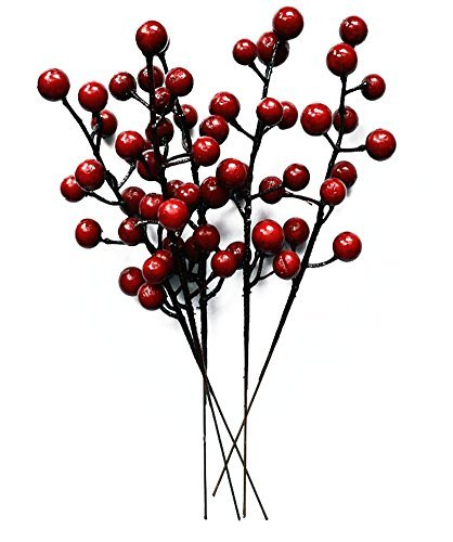 Wreath Decorated (Pack of 10 Christmas Decor Crabapple Decorated Wreath Garland Xmas Tree Decorations New Years Holiday Festive Party Shopping Malls Dress Up)