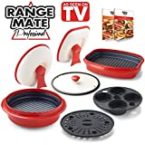 "Range Mate Pro Deluxe Nonstick Microwave 7-Piece Grill Pot/Pan Cookware Starter Set ""As Seen On TV"" (Grill, Bake, Roast, Saute, Steam, Poach, & One Pot Meals)"
