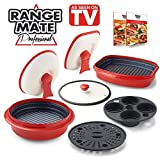 Range Mate Pro Deluxe Nonstick Microwave 7-Piece Grill Pot/Pan Cookware Starter Set ''As Seen On TV'' (Grill, Bake, Roast, Saute, Steam, Poach, & One Pot Meals)