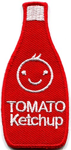 Tomato ketchup catsup retro embroidered applique iron-on patch new S-1312