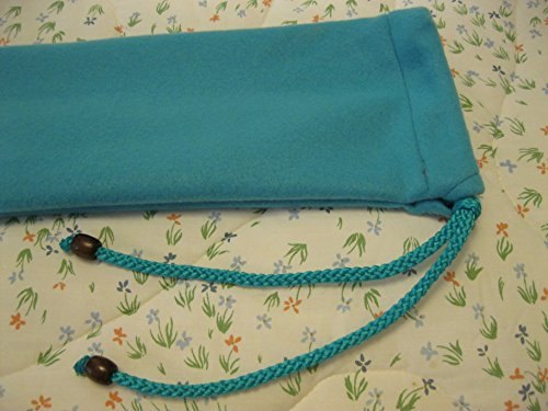 Native American Flute Bag - TEAL Fleece - protect your Flute - handmade