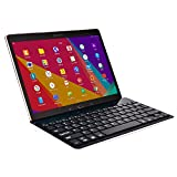 Cooper Cases(TM) GoKey Samsung Galaxy Tab S 8.4 (AMOLED) / LTE Smartphone/Tablet Wireless Bluetooth Keyboard in Black (Aluminum Alloy Build; US English QWERTY Keyboard; Built-in Stand)
