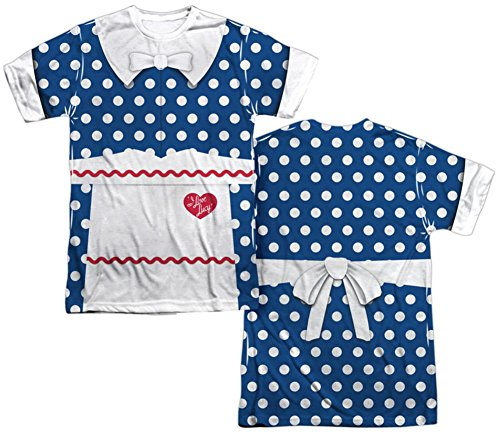I Love Lucy Costume Ricky (I Love Lucy- Polka Dot Costume Tee (Front/Back) T-Shirt Size L)