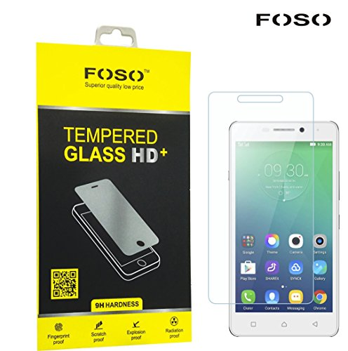 FOSO(™) Lenovo Vibe P1m 2.5D Curved Edge 9H Hardness Toughened Tempered Glass Screen Guard Protector