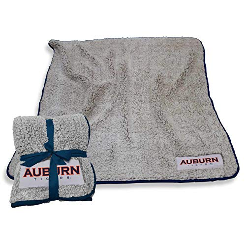 (Logo Auburn Tigers NCAA Frosty Fleece 60 X 50 Blanket - Navy,)