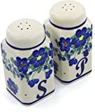 Polish Pottery 4½-inch Salt and Pepper Set Signature UNIKAT + Certificate of Authenticity