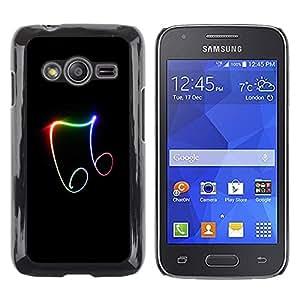 Be Good Phone Accessory // Dura Cáscara cubierta Protectora Caso Carcasa Funda de Protección para Samsung Galaxy Ace 4 G313 SM-G313F // Beautiful Music Symbols