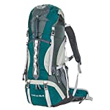 Cheap G4Free 50L+5L Outdoor Sport Water-resistant Hiking Backpacks Internal Frame Backpacking Backpack Camping Bag with Rain Cover for Women Men Climbing Trekking Hiking Travel Mountaineering(Green)