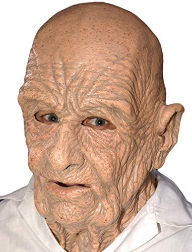 Realistic Latex Halloween Mask (Zagone DOA Mask, Old Dead Bald Wrinkly)