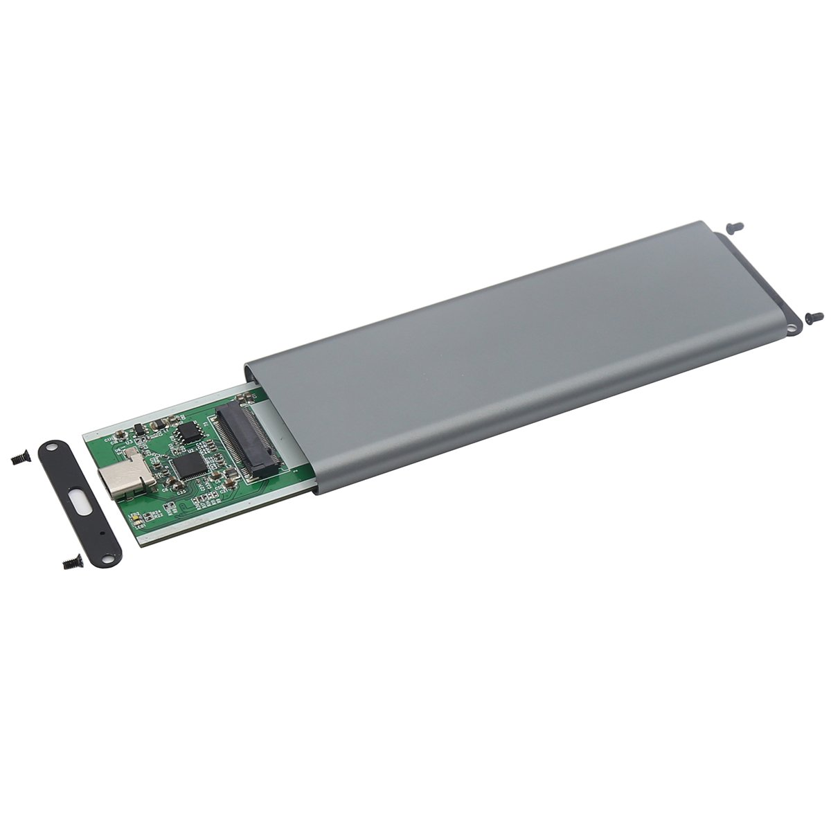 Aluminum M.2 NGFF to USB 3.1 M.2 SSD Enclosure External SSD Enclosure SATA Based M.2(Grey) by Generic (Image #4)
