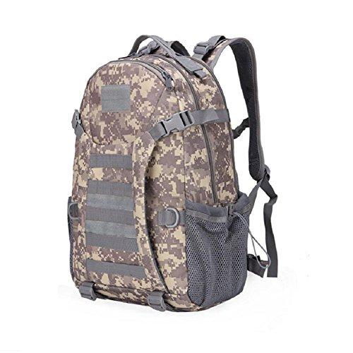 ZX&Q Impermeable Oxford tela deportes tácticos al aire libre camuflaje escalada mochila transpirable luz cómoda llevando una mochila al aire libre súper resistente al desgaste ligero,C,30L D