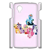 Durable Rubber Cases Google Nexus 5 Cell Phone Case White Amqkt My Little Pony Protection Cover