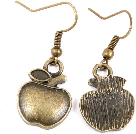60 Pairs Jewelry Making Charms Supply Supplies Wholesale Fashion Earring Backs Findings Ear Hooks B2VJ9 Apple