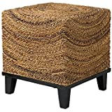 East At Main Churchill Brown Abaca Square Accent Table, (20x20x22)