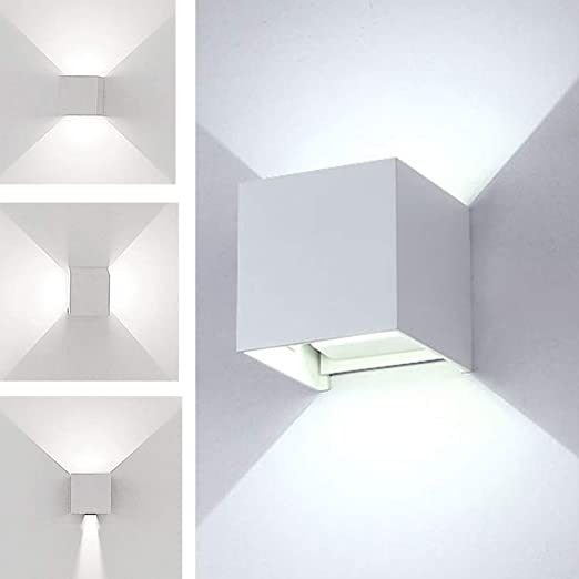 K-Bright Applique a LED per esterni, lampada da parete cubo design ...