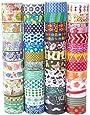 MOOKER Washi Tape Set of 48 Rolls,Decorative Washi Masking Tape Set for DIY Crafts and Gift Wrapping
