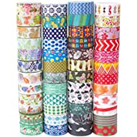 Washi Tape Set of 48 RollsDecorative Washi Masking Tape Set for DIY Crafts and Gift Wrapping