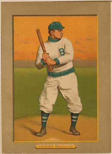Photo: Bill Dahlen, Brooklyn Dodgers, baseball photo, 1911 . Size: 8x10 (approximately)