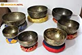 Chakra Healing Tibetan Singing Bowl - Set of 7 - Hand Hammered Tibetan Meditation Singing Bowl Nepal