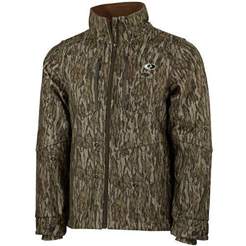 Mossy Oak Men's Camo Sherpa 2.0 Fleece Lined Hunting Jacket, Bottomland, ()