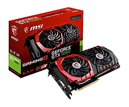 MSI GeForce GTX 1080 Gaming X 8G - Tarjeta gráfica (refrigeración Twin Frozr Vi, Backplate, LED RGB, 8 GB Memoria GDDR5X, VR Ready)