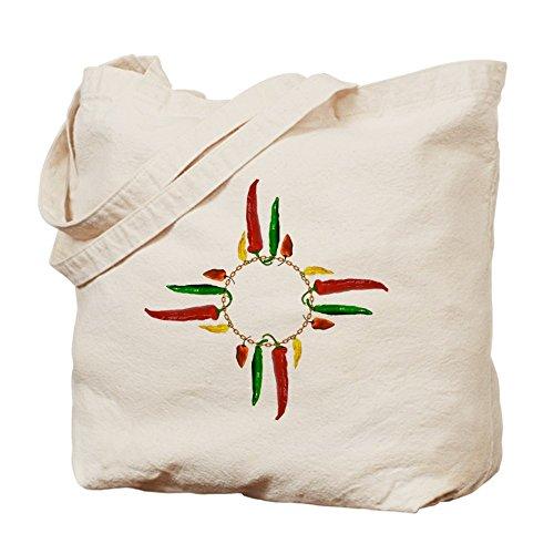 CafePress–Chile pimienta Zia símbolo Tote Bag–Natural gamuza de bolsa de lona bolsa, bolsa de la compra