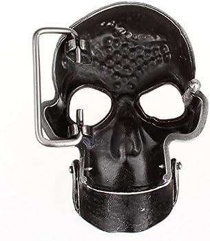 ViewHuge Men Skull Head Buckle Leather Belt Waist Band Jeans Decorative Punk Belt