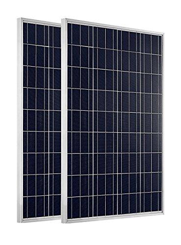 ECO-WORTHY 200 Watts 2pcs 100 Watt Polycrystalline Solar Panel 12 Volt Battery Charging for RV Boat