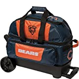 KR Strikeforce Chicago Bears Double Roller Bowling Bag, Multicolor