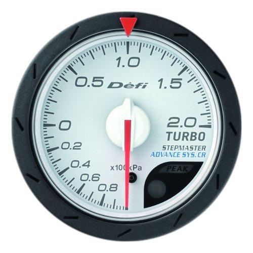 Defi DF07801 Advance CR Bar Boost Gauge, White, 52mm: