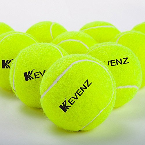 KEVENZ 24-Pack Green Advanced Training Tennis Balls,Practice Ball (Interlocked Wool Fiber) by KEVENZ (Image #6)