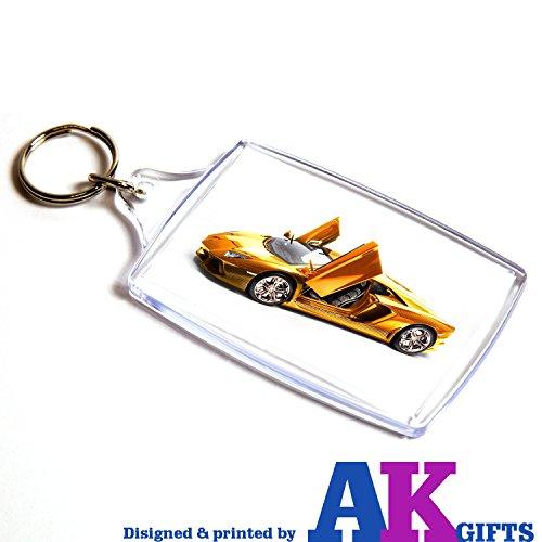 os Akgifts cara Sports llavero de Lamborghini regalo doble cumplea Car rzWzRO