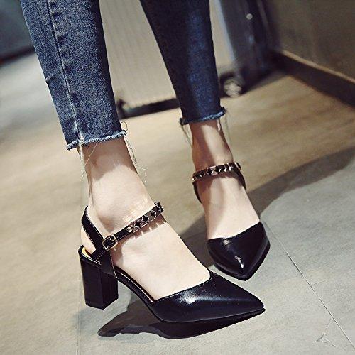 EU39 Président SHOESHAOGE Chaussures Romain Femme Champ Sandales Hauts Le Le Talons Avec Tête Astuce Avec D'En En aTrapq