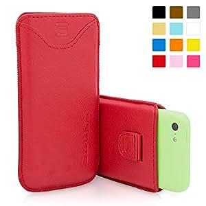 Estuche iPhone 5c, Snugg™ - Funda De Cuero Rojo Con Una Garantía De Por Vida Para Apple iPhone 5c