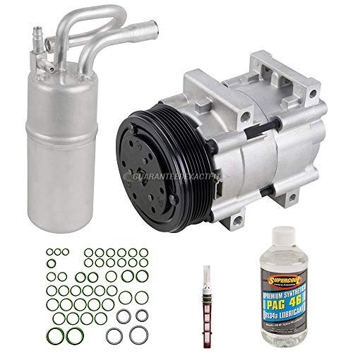 AC Compressor w/A/C Repair Kit For Ford Ranger Explorer V6 Mazda B3000 B4000 1995 1996 1997 - BuyAutoParts 60-80127RK New