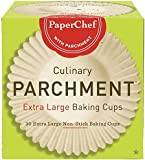 (2 Pack) Extra Large Paper Cupcake Liners / Baking Cups, 30-ct/Box
