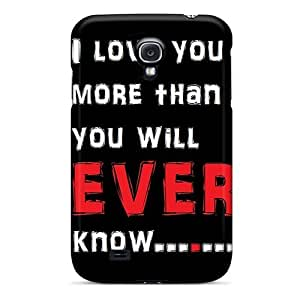 Mwaerke Snap On Hard Case Cover I Love You More Protector For Galaxy S4