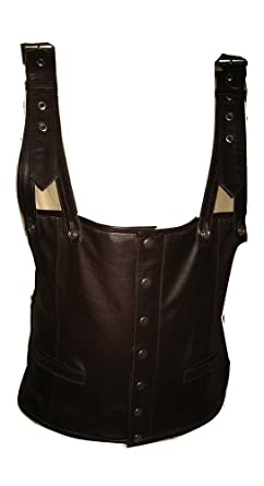 Image result for Leather Tupac Shakur Suspender Vest $169.99