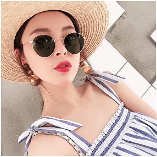 film rond soleil rétro Shop lunettes soleil de couleur de de rétro cadres nouvelle soleil personnalité Dix lunettes circulaires 6 mode soleil lunettes Lunettes Cadre de qfwRfXxBn