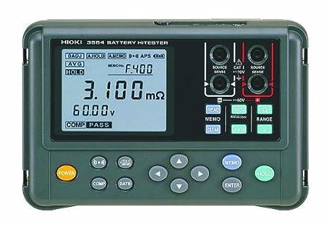 Hioki 3554 Battery HiTester, 3 Ohms Resistance, 60V DC Voltage
