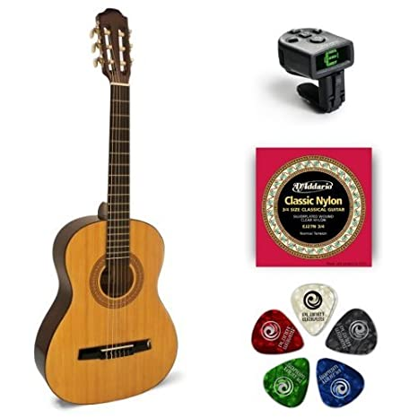 Amazon.com: Hohner HC03 3/4-Size Classical Acoustic Guitar: Musical Instruments