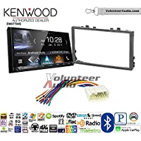 Volunteer Audio Kenwood DMX7704S Double Din Radio Install Kit with Apple CarPlay Android Auto Bluetooth Fits 2006-2011 Honda Civic