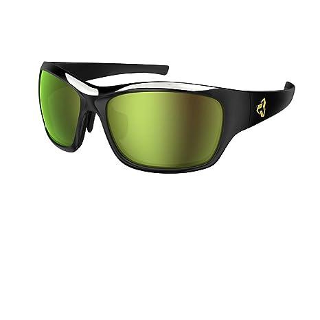 5bfb2d73514 Ryders Eyewear Khyber Standard Sunglasses - 2-Tone (Black-Gold Green Lens