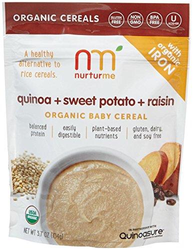 NurturMe Baby Cereal-Quinoa, Raisin and Sweet Potato-3.7 Ounces-6 Pack